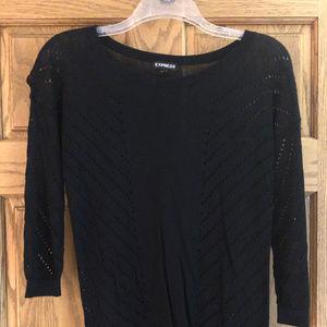 Express Black Pullover Sweater, Medium
